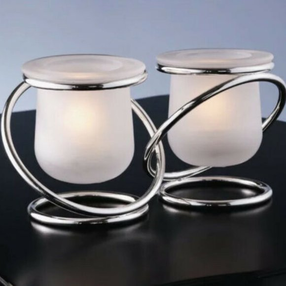 Partylite Silver Plate Gemini Tea Light Holder